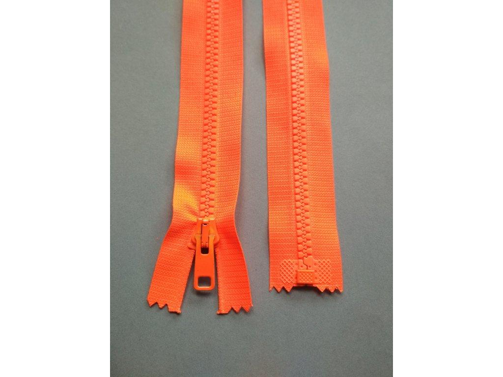 Zip 30 cm reflexní oranžový