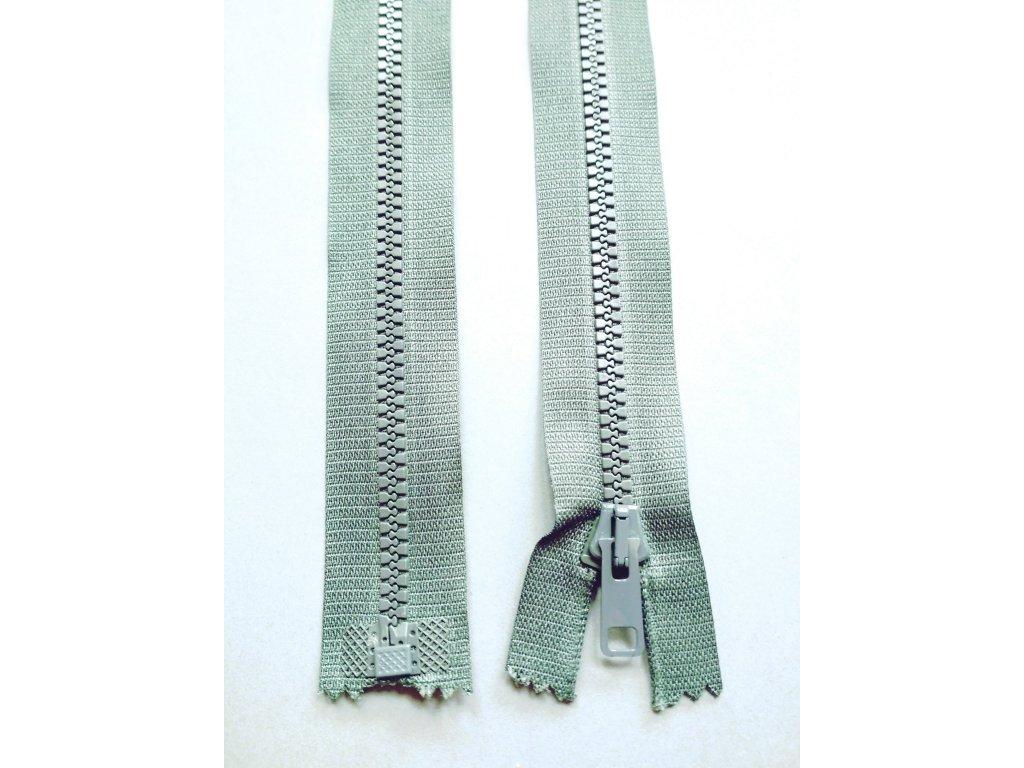Zip 30 cm tmavě šedý
