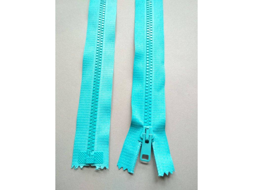 Zip 30 cm tyrkysový