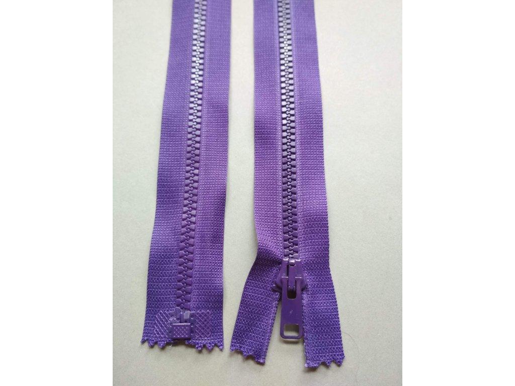 Zip 60 cm fialový