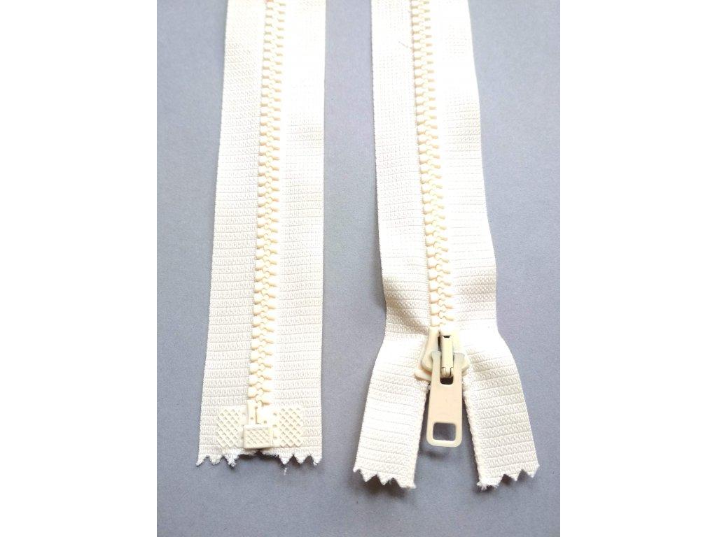 Zip 60 cm krémový