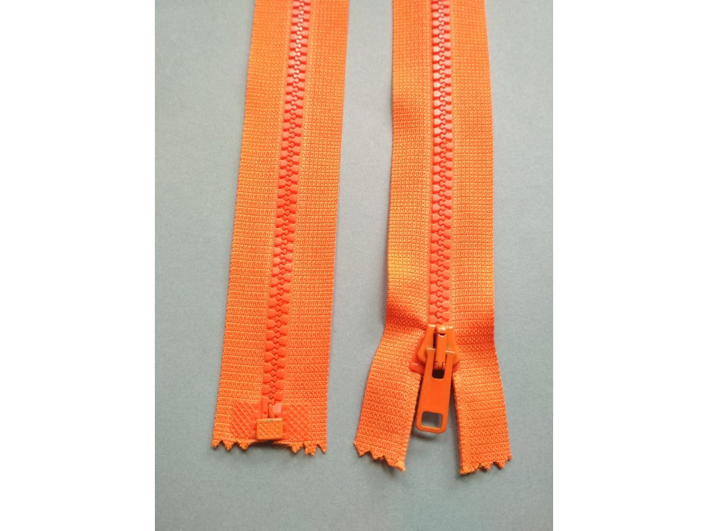 Zip 60 cm oranžový