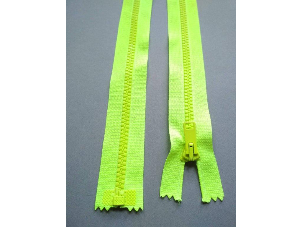 Zip 60 cm reflexní žlutý