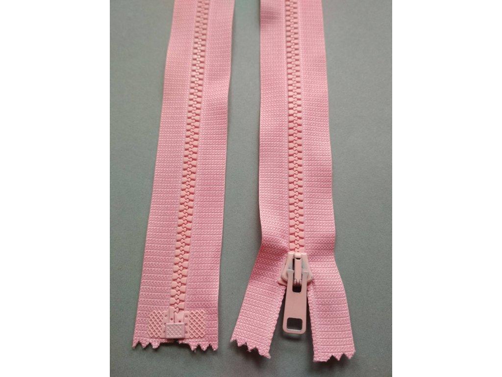 Zip 60 cm růžový
