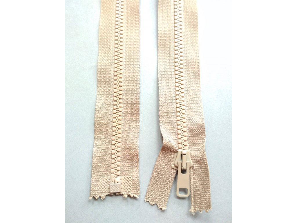 Zip 60 cm světle hnědý