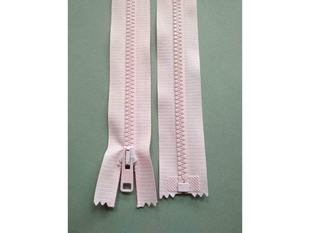 Zip 60 cm světle růžový