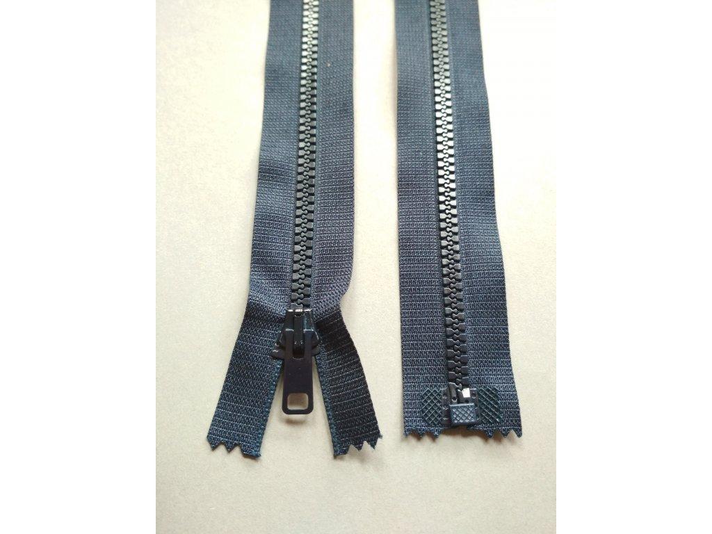 Zip 60 cm tmavě modrý
