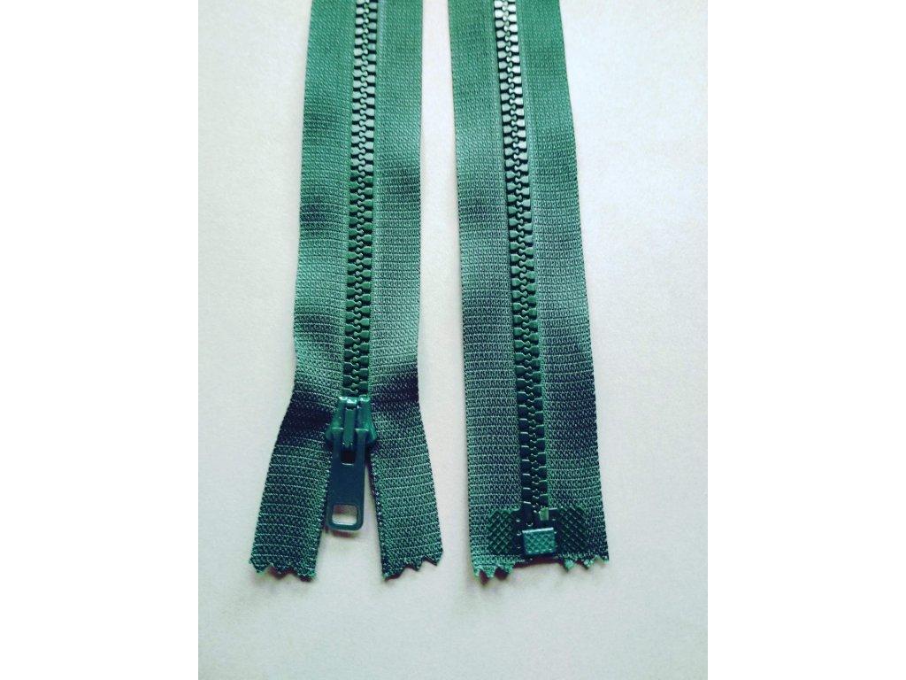 Zip 60 cm tmavě zelený