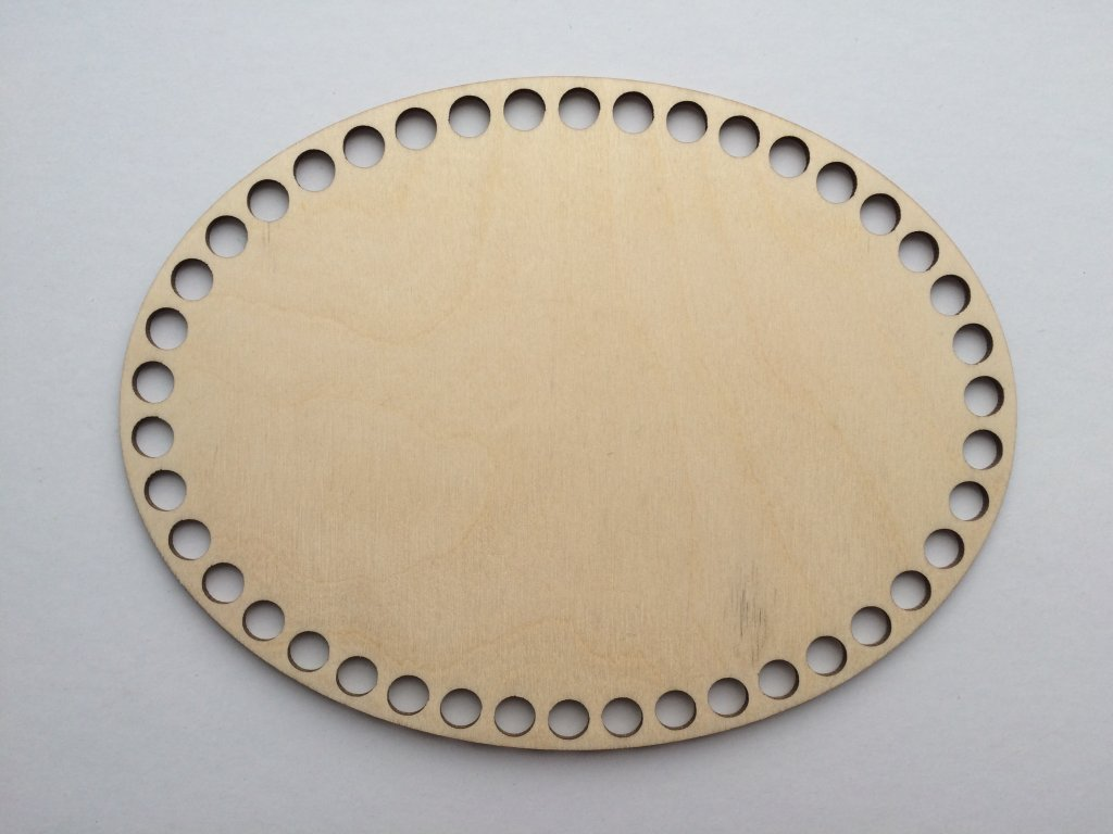 3785 dreveny vyrez oval 20 15cm
