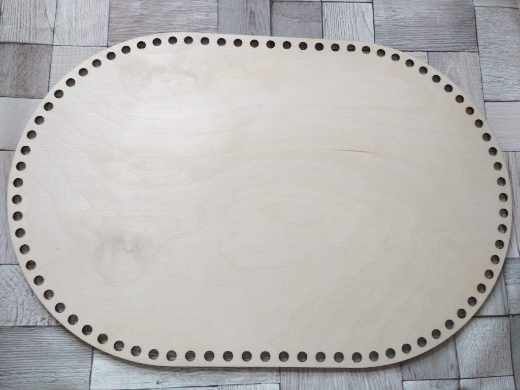 6755 dreveny vyrez oval 45 30 cm