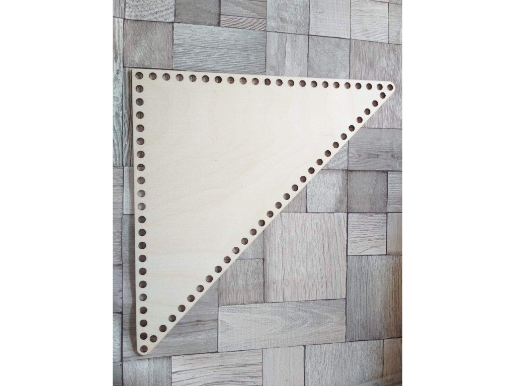 6749 dreveny vyrez trojuhelnik 30 cm