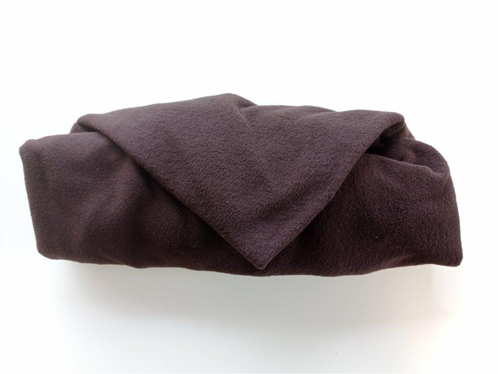 198881 vak do pufu 40x30 cm tmave hnedy