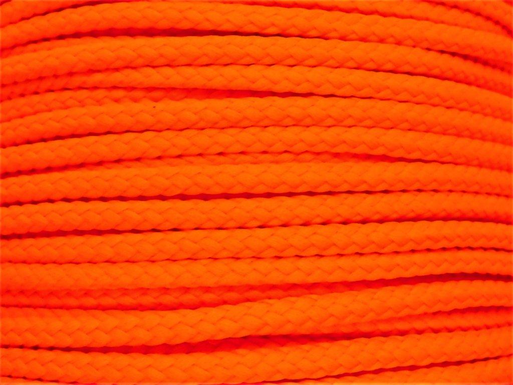 Polyesterová šňůra YarnMellow Loopy Fluorescenční oranžová