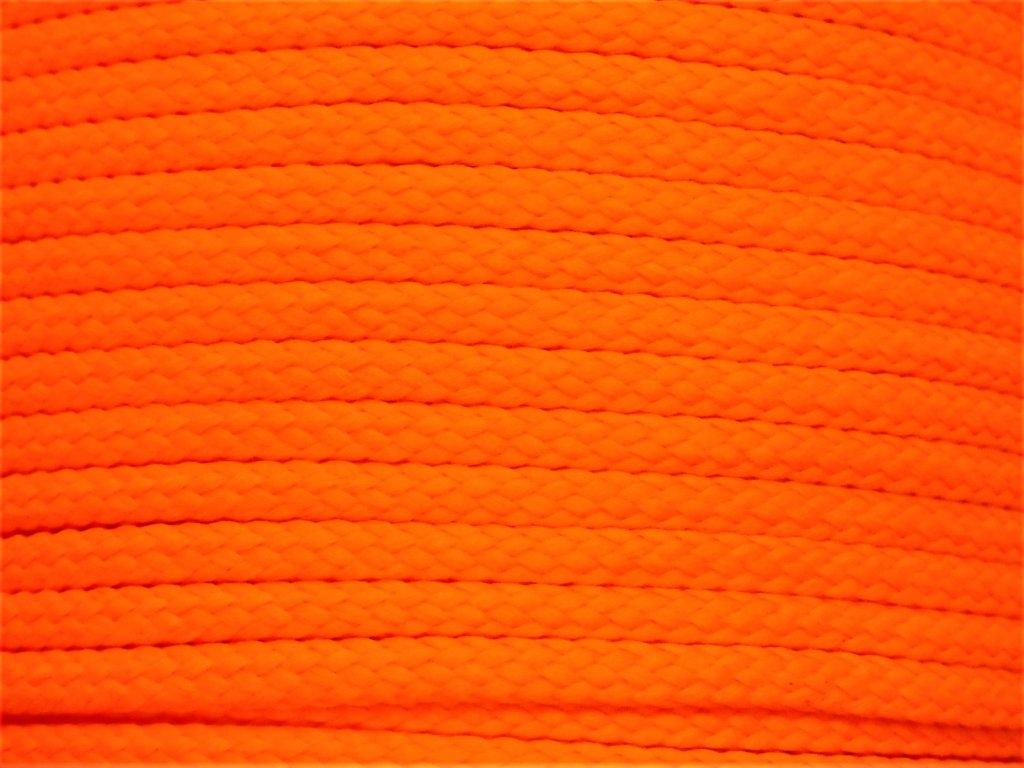 Polyesterová šňůra YarnMellow Loopy Signální oranžová