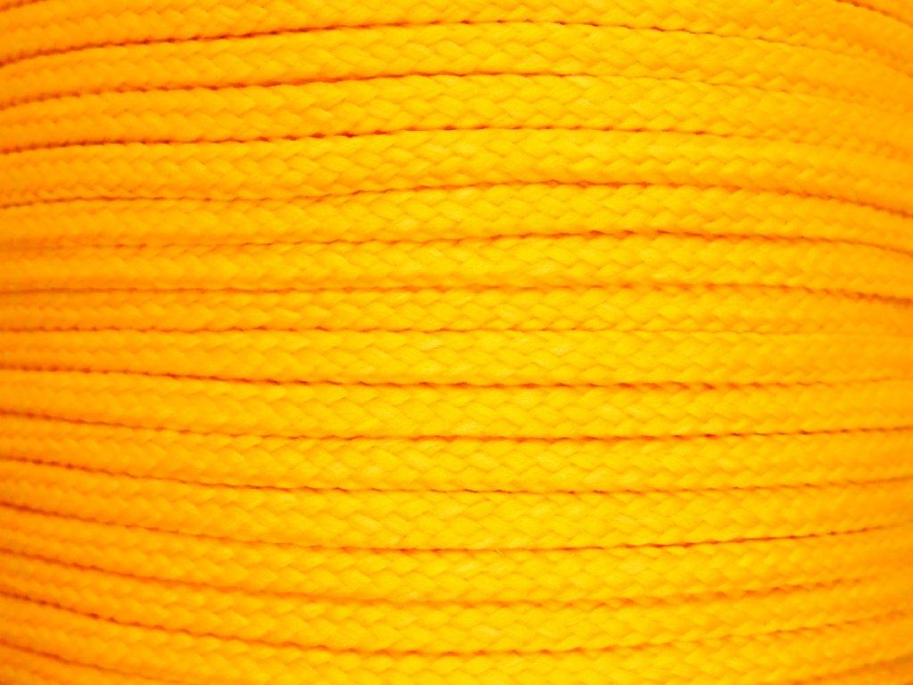 Polyesterová šňůra YarnMellow Loopy Kurkuma