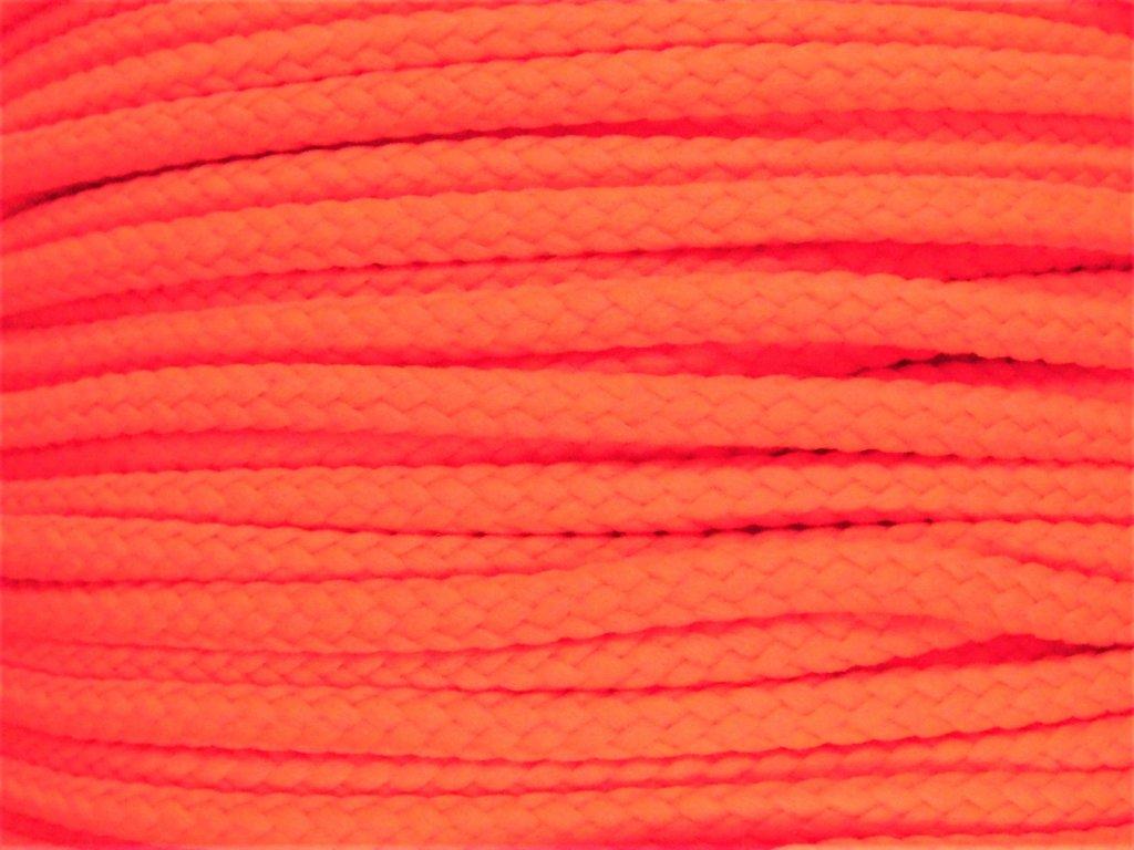 Polyesterová šňůra YarnMellow Loopy Fluorescenční červená