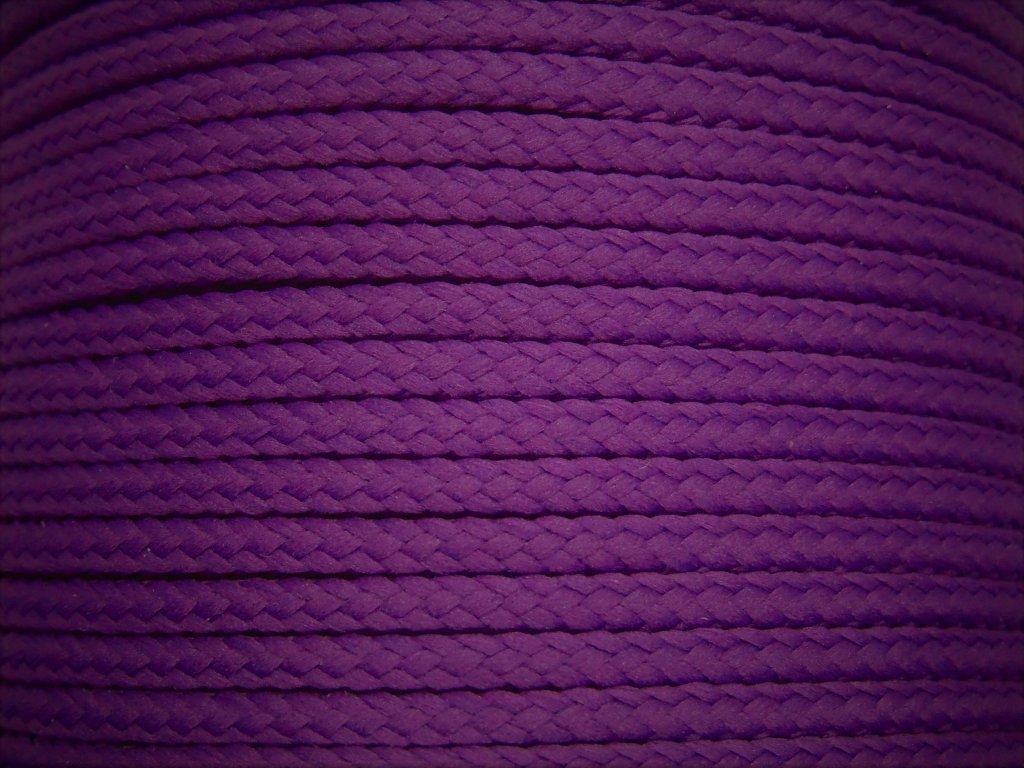 Polyesterová šňůra YarnMellow Loopy Fialka