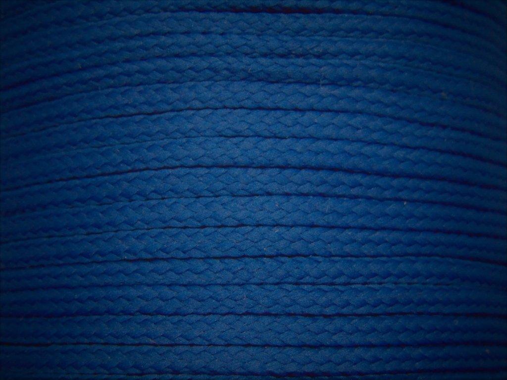 Polyesterová šňůra YarnMellow Loopy tmave modra