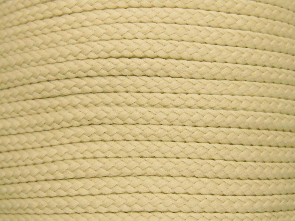 Polyesterová šňůra YarnMellow Loopy Krémová
