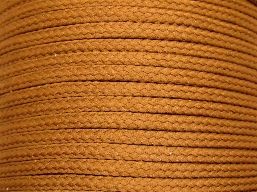 Polyesterová šňůra YarnMellow Loopy Francouzská hnědá