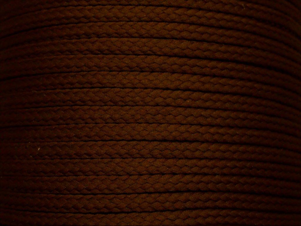 Polyesterová šňůra YarnMellow Loopy Čokoládová