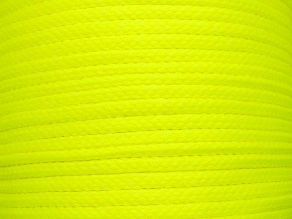 Polyesterová šňůra YarnMellow Loopy Fluorescenční žlutá
