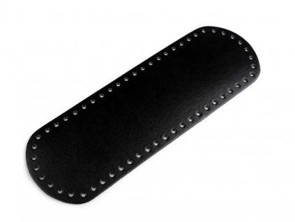 Koženkové dno tašky 10x30 cm černé
