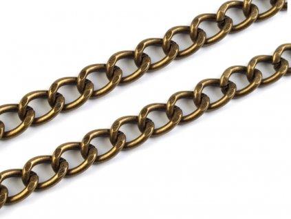Řetěz na kabelku 120 cm starobronz