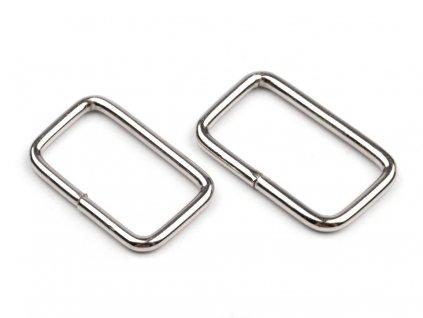 Kovová vsuvka na kabelku stříbrná 2 cm