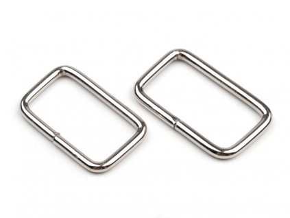 Kovová vsuvka na kabelku stříbrná 3 cm
