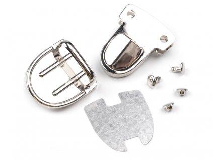 Zapínání na tašku kovové střední