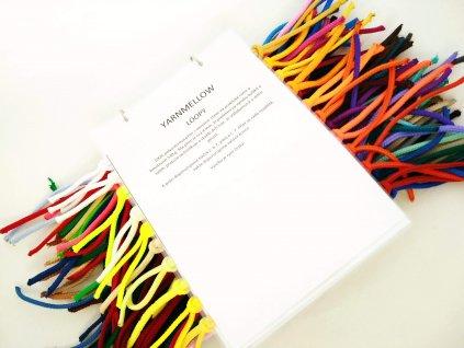 Vzorník YarnMellow Loopy polyesterových šňůr