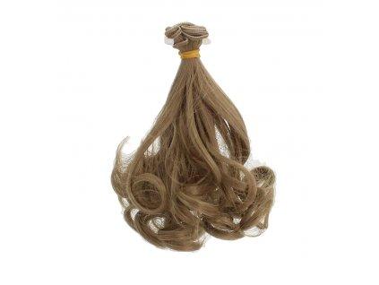 8171 vlasy na panenku vlnite hnede