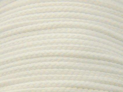 Polyesterová šňůra YarnMellow Loopy bílá