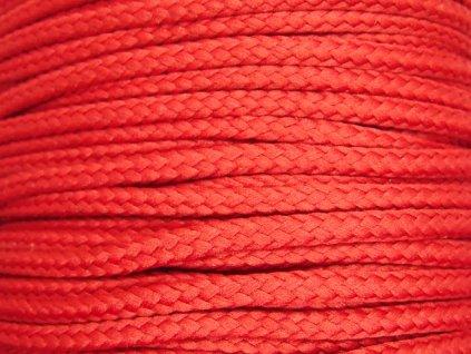 Polyesterová šňůra YarnMellow Loopy Jahodová