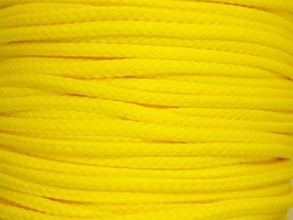 Polyesterová šňůra YarnMellow Loopy Jasně žlutá