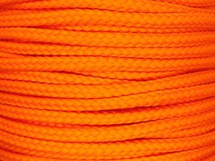 Polyesterová šňůra YarnMellow Loopy Mandarinková