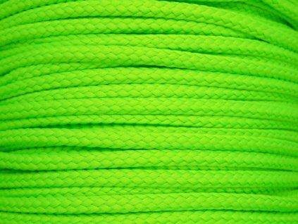 Polyesterová šňůra YarnMellow Loopy Fluorescenční zelená