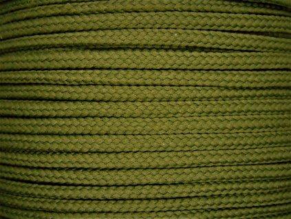 Polyesterová šňůra YarnMellow Loopy Tmavě olivová