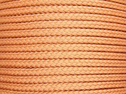 Polyesterová šňůra YarnMellow Loopy Skořicová