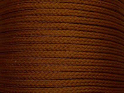 Polyesterová šňůra YarnMellow Loopy Oříšková