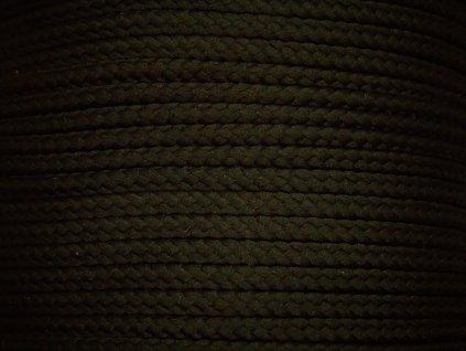 Polyesterová šňůra YarnMellow Loopy Černá