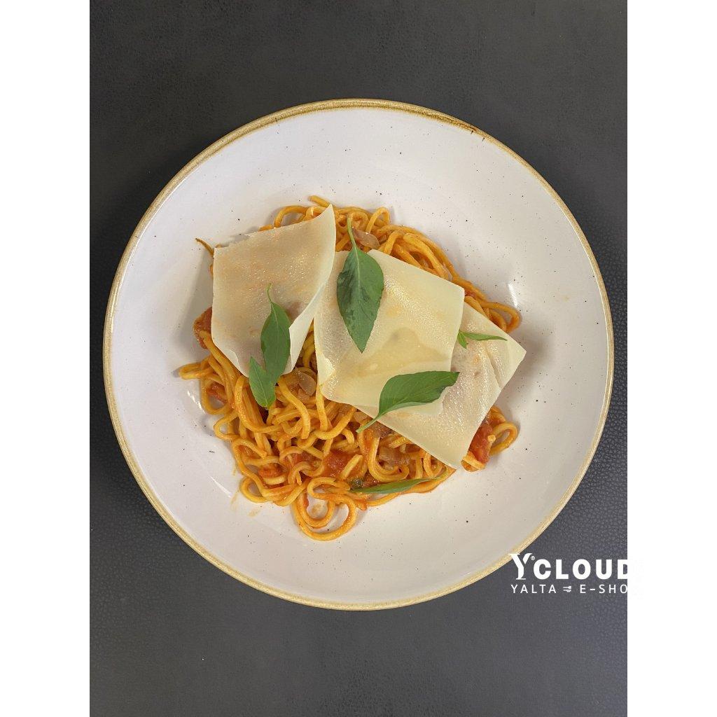 2 - Spaghetti al pomodoro, guanciale e grana padano