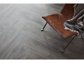 Elegant Dark Grey Herringbone DSH