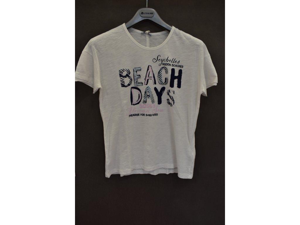 Tričko Soccx Hidden Beaches Ivory