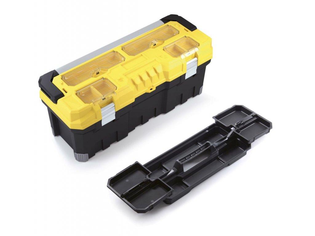 plastovy kufr na naradi titan professional zluty 752x300x304
