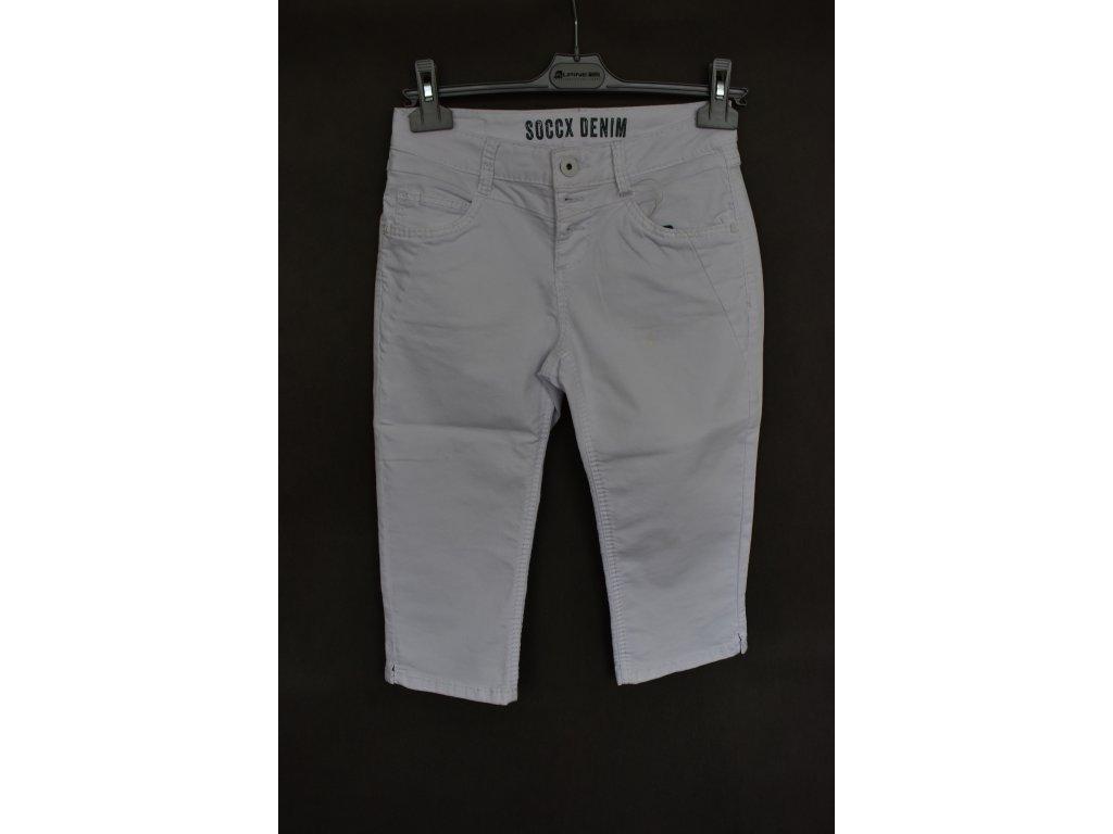 3/4 kalhoty Soccx White