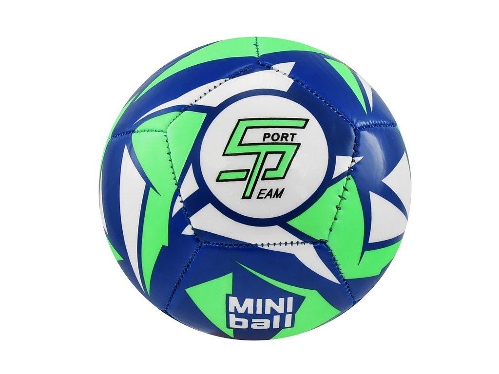 Fotbalový míč miniball SPORTTEAM, modro-neon.zelený