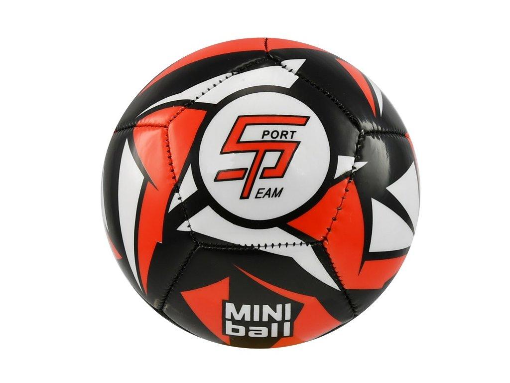 Fotbalový míč miniball SPORTTEAM, černo-červený