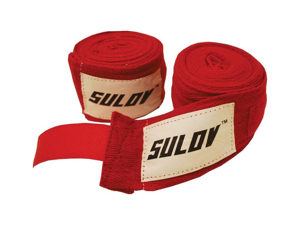Box bandáž SULOV bavlna 4m, 2ks, červená